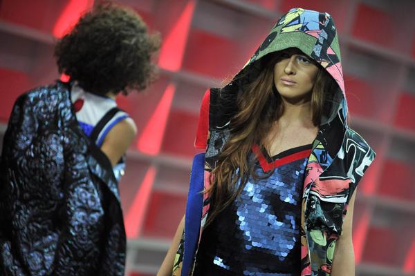 (161106) -- TBILISI, Nov. 6, 2016 (Xinhua) -- Models present creations by Avtandil from Georgia during the Mercedes-Benz Fashion Week in Tbilisi, capital of Georgia, on Nov. 6, 2016. (Xinhua/Kulumbegashvili Tamuna)