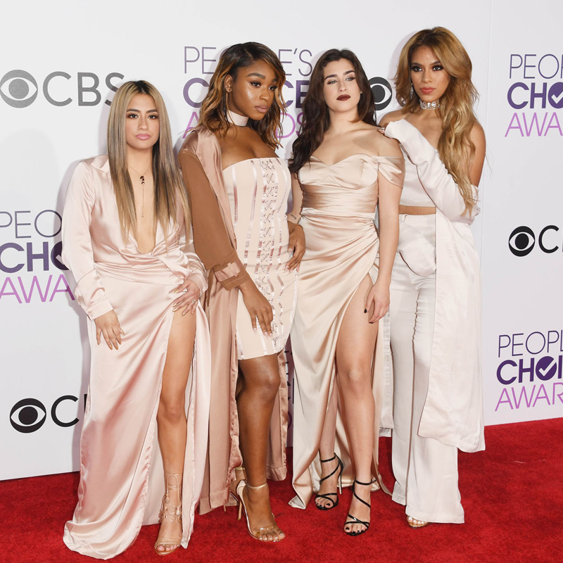 LOS ANGELES, CA - JANUARY 18: (L-R) Singers Ally Brooke, Normani Kordei, Lauren Jauregui, and Dinah Jane of Fifth Harmony attend the People's Choice Awards 2017 at Microsoft Theater on January 18, 2017 in Los Angeles, California. Alberto E. Rodriguez/Getty Images/AFP == FOR NEWSPAPERS, INTERNET, TELCOS & TELEVISION USE ONLY ==