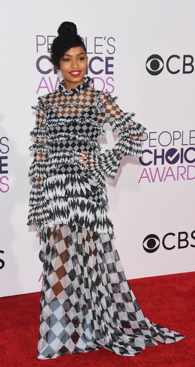 LOS ANGELES, CA - JANUARY 18: Actress Yara Shahidi attends the People's Choice Awards 2017 at Microsoft Theater on January 18, 2017 in Los Angeles, California. Alberto E. Rodriguez/Getty Images/AFP == FOR NEWSPAPERS, INTERNET, TELCOS & TELEVISION USE ONLY ==