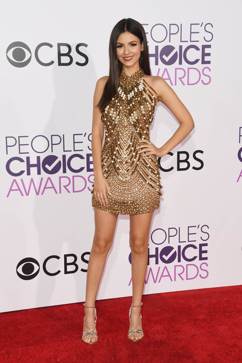 LOS ANGELES, CA - JANUARY 18: Actress Victoria Justice attends the People's Choice Awards 2017 at Microsoft Theater on January 18, 2017 in Los Angeles, California. Alberto E. Rodriguez/Getty Images/AFP == FOR NEWSPAPERS, INTERNET, TELCOS & TELEVISION USE ONLY ==