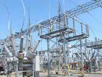electricity transmission line news photo