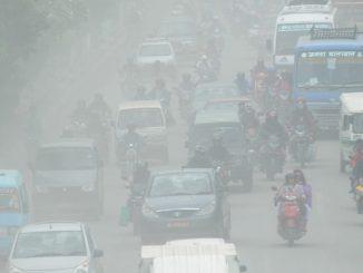 Dusty road kathmandu