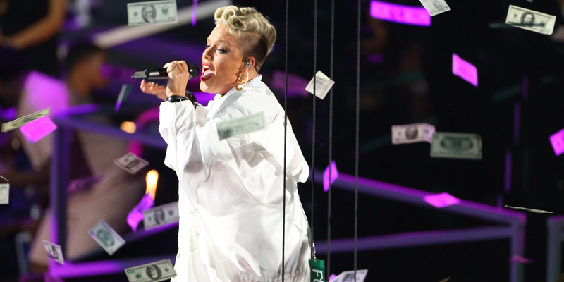Pink performs onstage during the MTV Video Music Awards 2017 in Inglewood, California. (photo features)