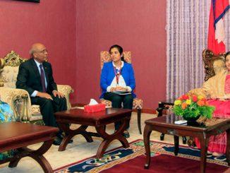 maldives ambassadior meet to president Bhandari