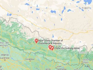 nepal china border map